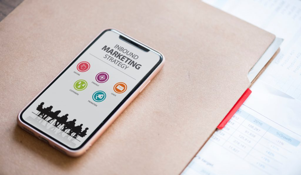 iphone displaying inbound marketing strategy - patient pipeline